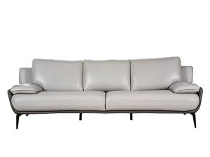 Rozel Gold Grey Leather Sofa Living room