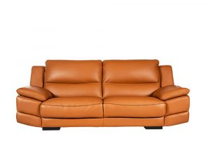 Rozel Gold Latex Classic Brown Leather Sofa