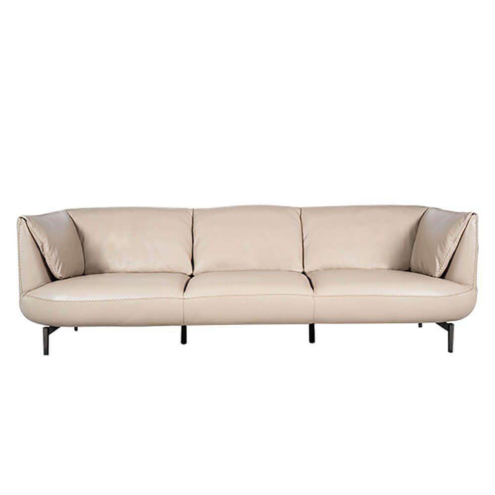 Rozel Gold Beige Leather Sofa Living room