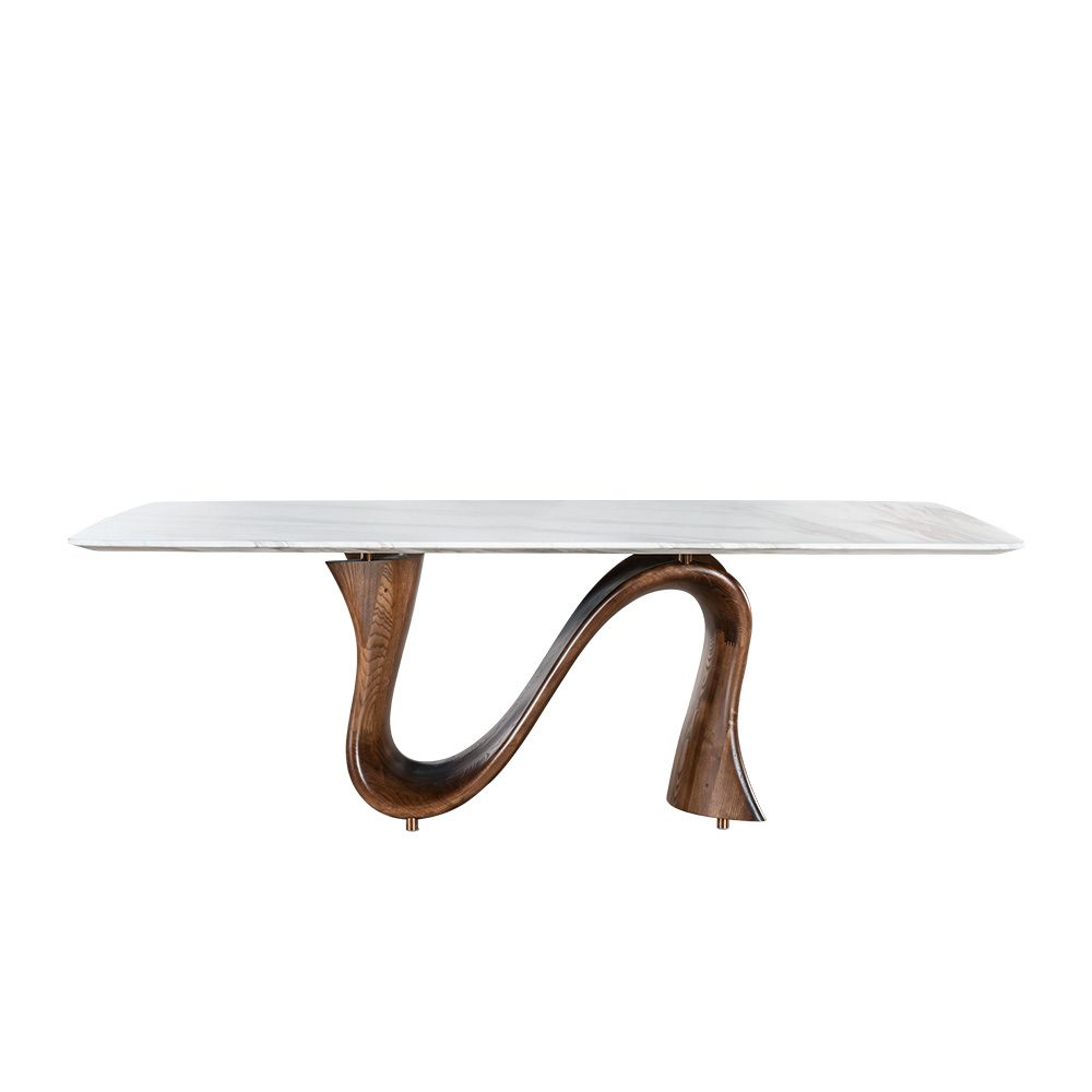 Rozel Khayu Jazz White Marble Dining Table Top