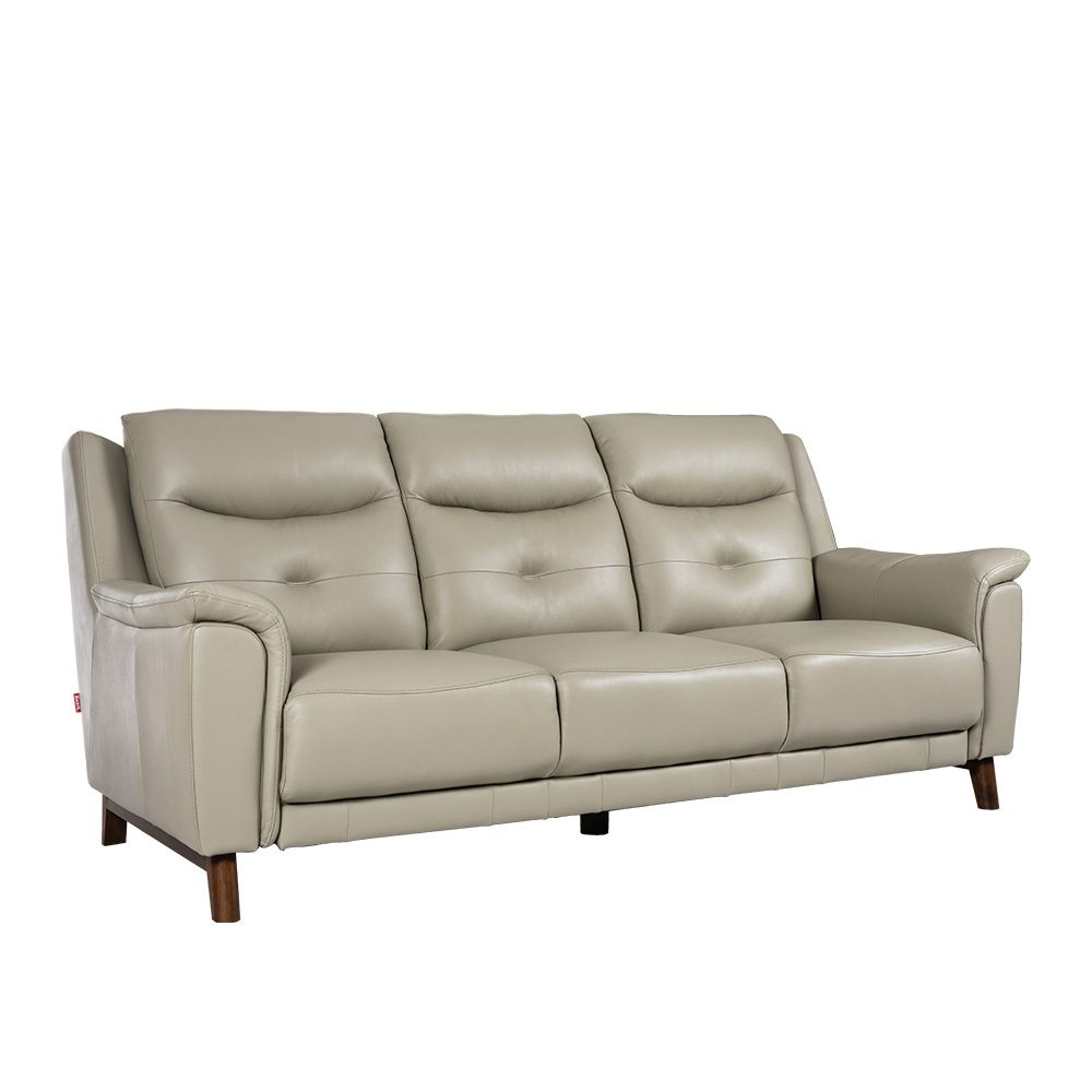 Rozel Lifestyle Latex Seat Grey Leather Sofa Living room