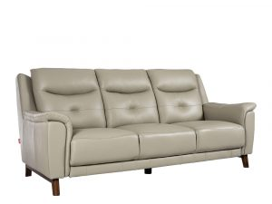 Rozel Lifestyle Latex Seat Grey Leather Sofa Living room