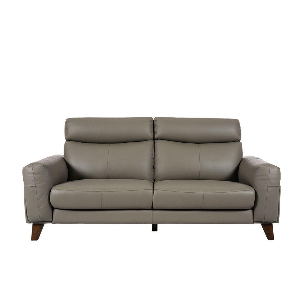 Rozel Lifestyle Dark Grey Leather Sofa Living room
