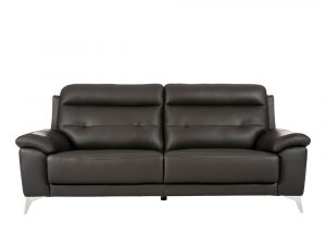 Rozel Lifestyle Black Dark Leather Sofa Living room