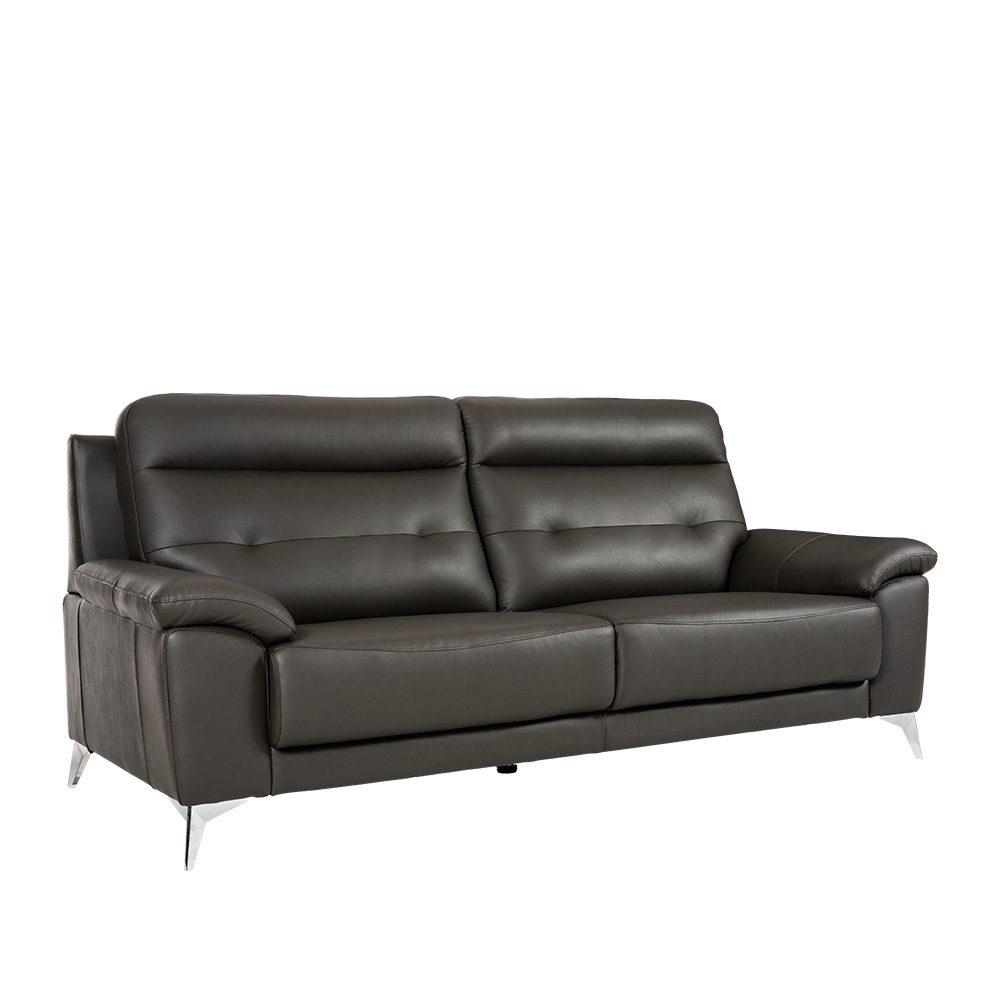 Rozel Lifestyle Black Dark Leather Sofa Living room