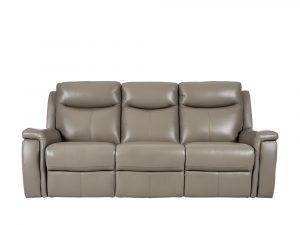 Rozel Power Recliner Light Stone Leather Sofa