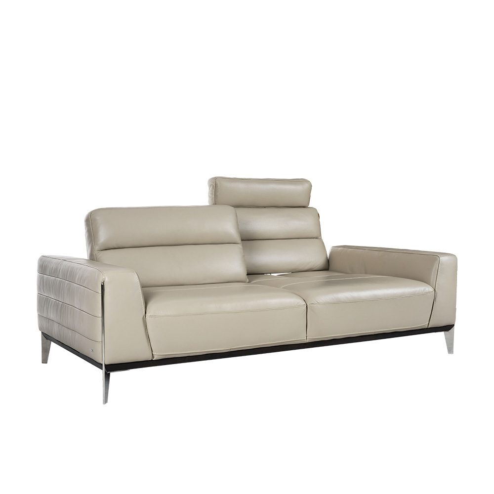 Rozel Signature Grey Leather Sofa Living room