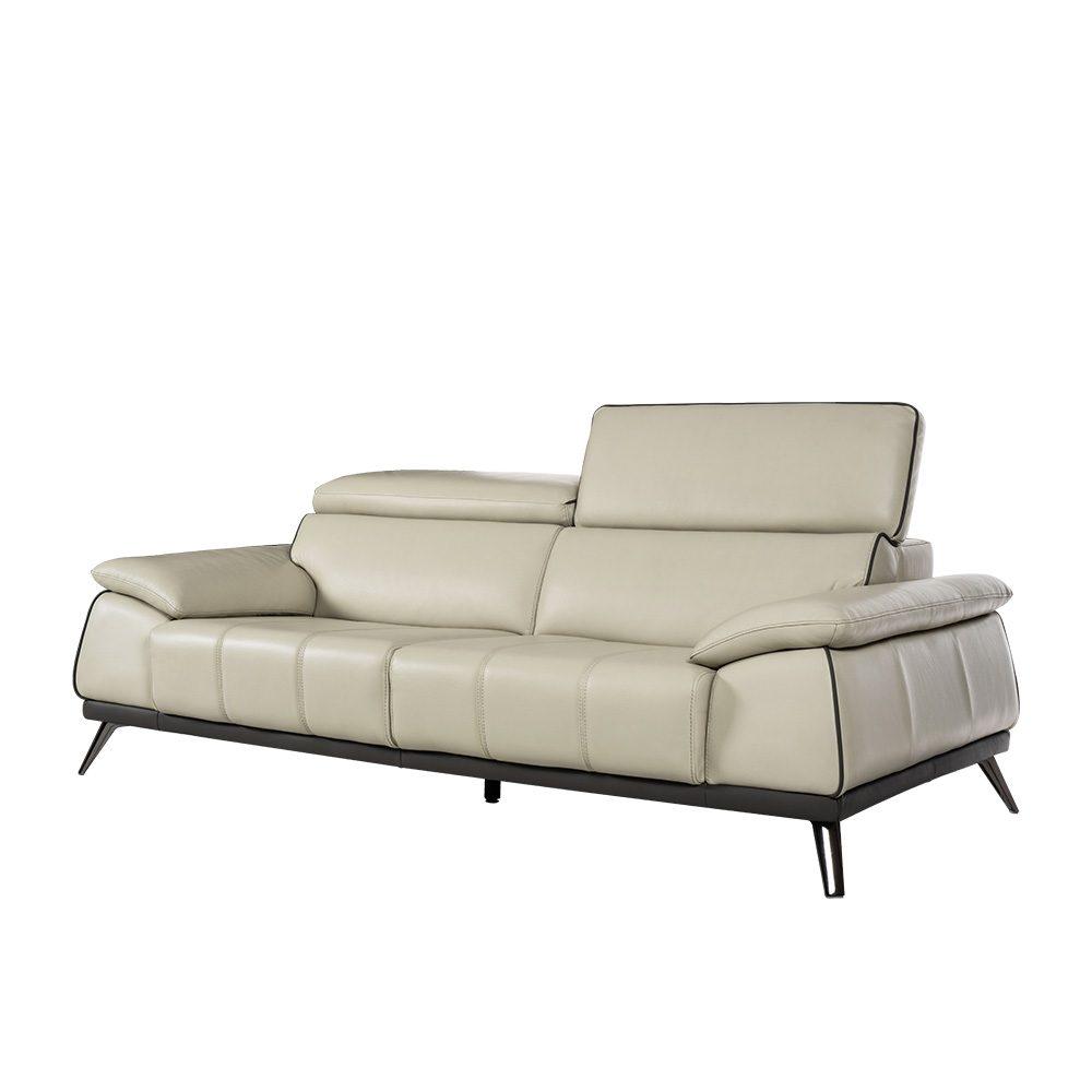 Rozel Signature Off-white Leather Sofa Living Room