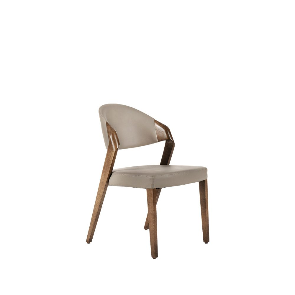 Rozel Khayu Smoke Grey PVC Dining Chair