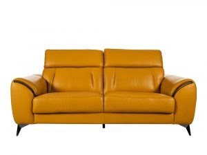 Rozel Signature Mustard Leather Sofa Living room