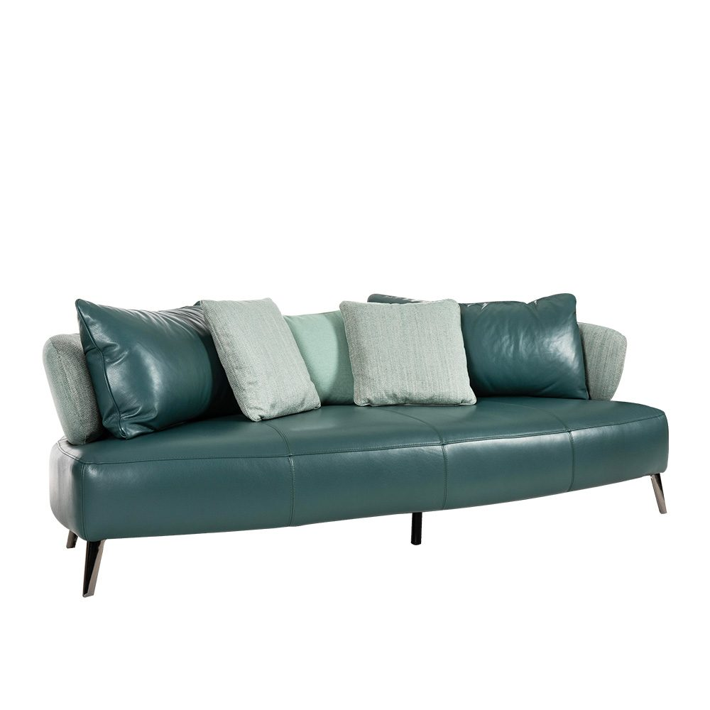 Rozel Gen-R Green Fabric Leather Sofa Living room