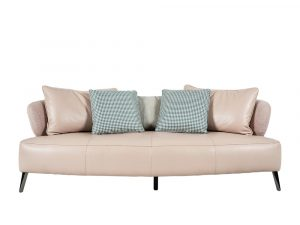 Rozel Gen-R Pastel Pink Fabric Leather Sofa Living room