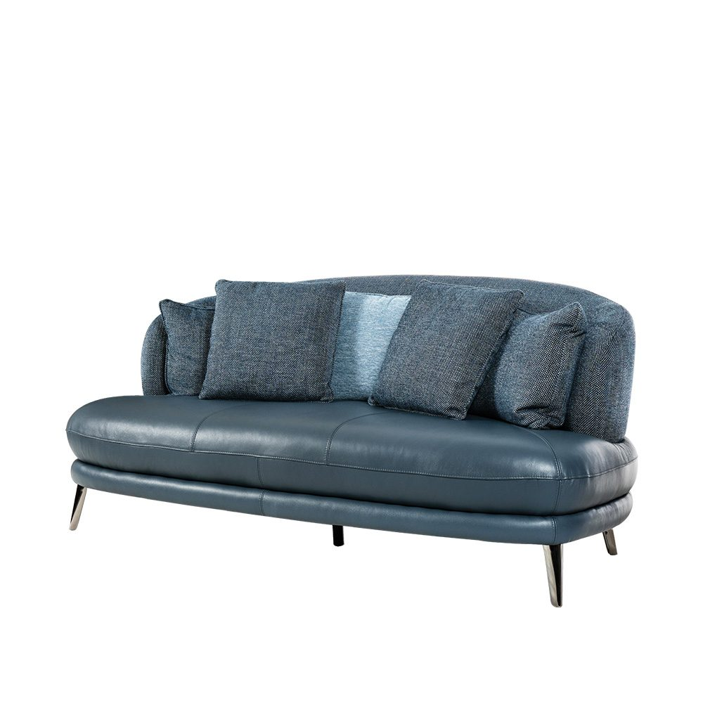 Rozel Gen-R Blue Fabric Leather Sofa Living room