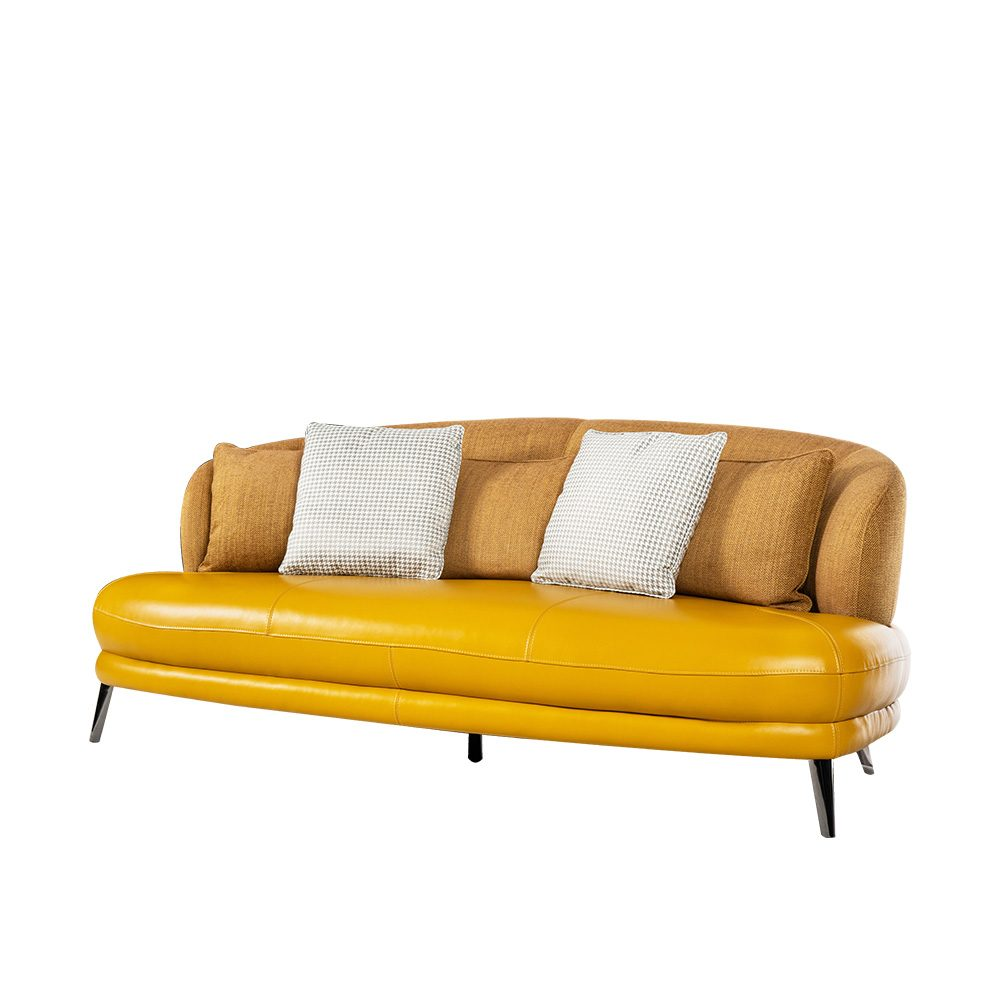 Rozel Gen-R Yellow Fabric Leather Sofa Living room