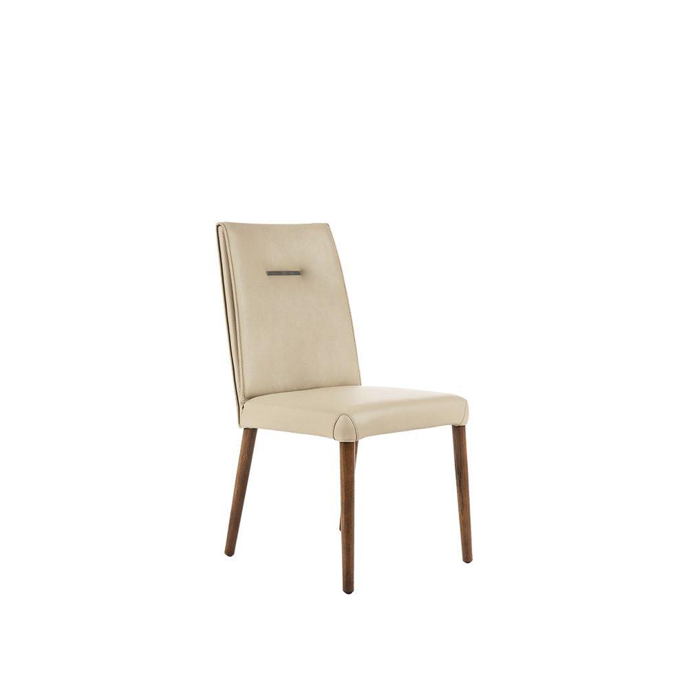 Rozel Khayu Light Mocha Leather Dining Chair Oak