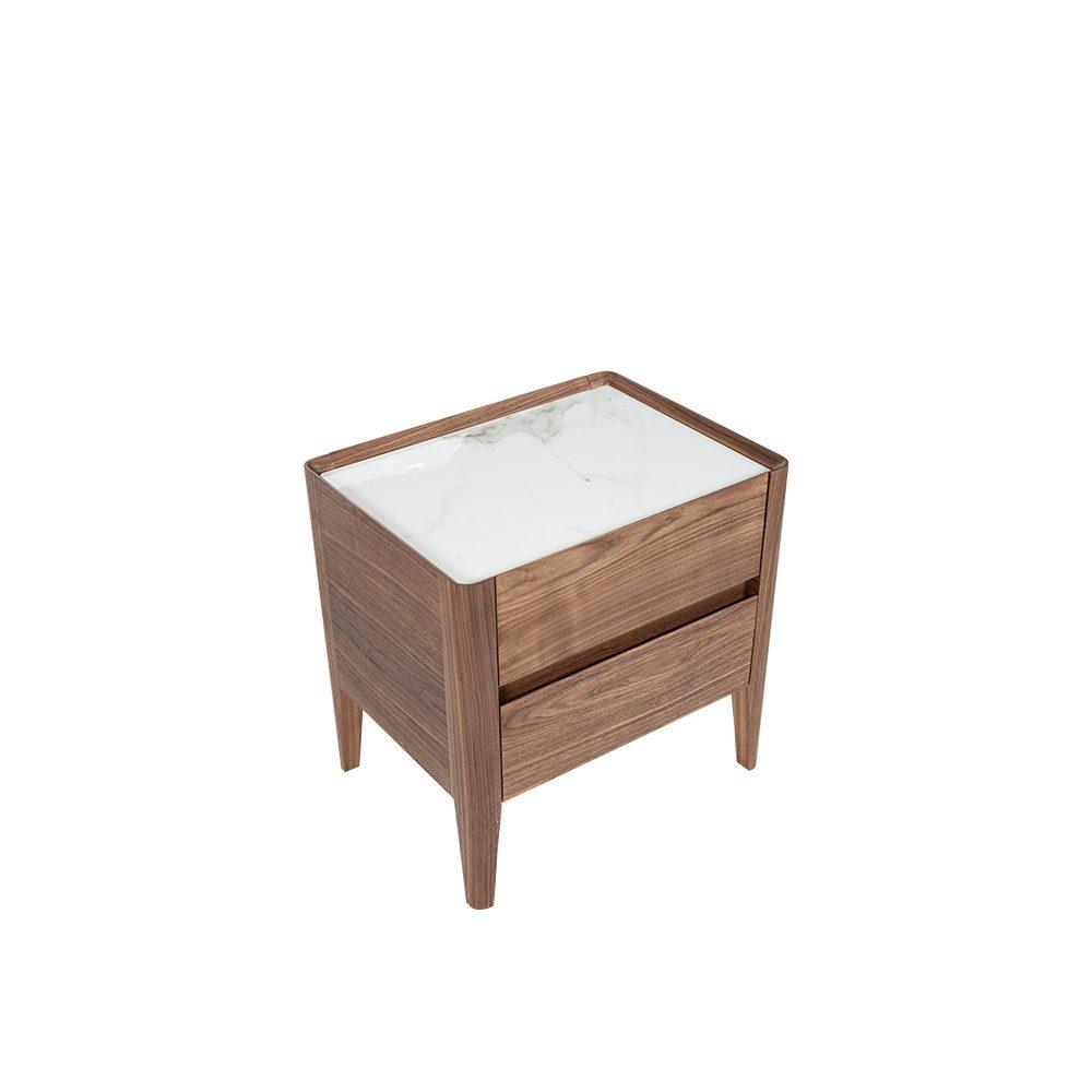Rozel Premium Pairings White Ceramic Night Stand Table Top Living Room