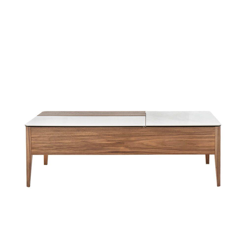 Rozel Premium Pairings Centre White Brown Ceramic Table Top Living Room