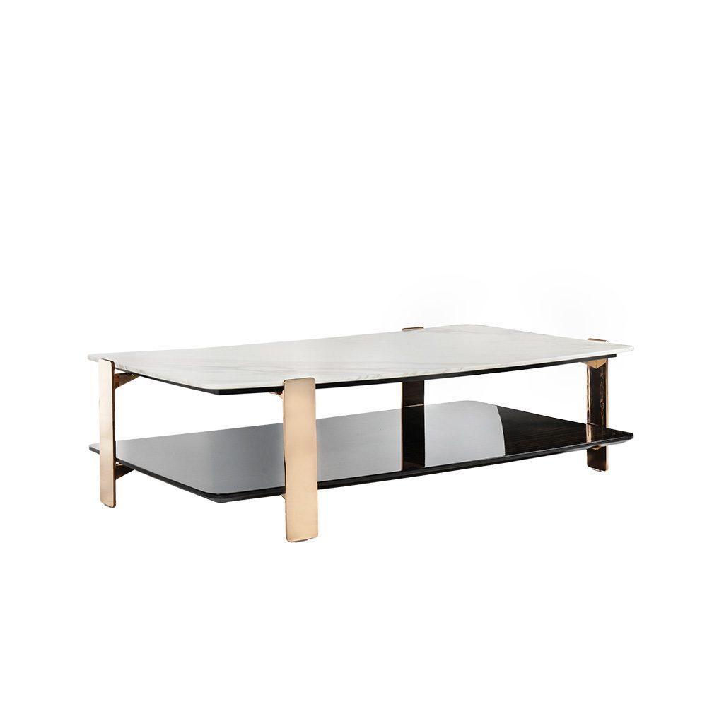 Rozel Premium Pairings Centre White Marble Table Top Living Room