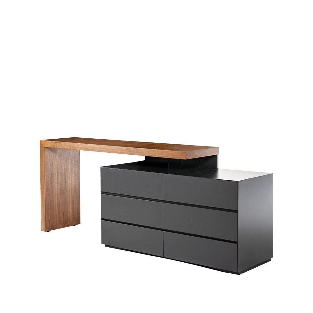 Rozel Premium Pairings Walnut Drawers Dressing Table Top Living Room