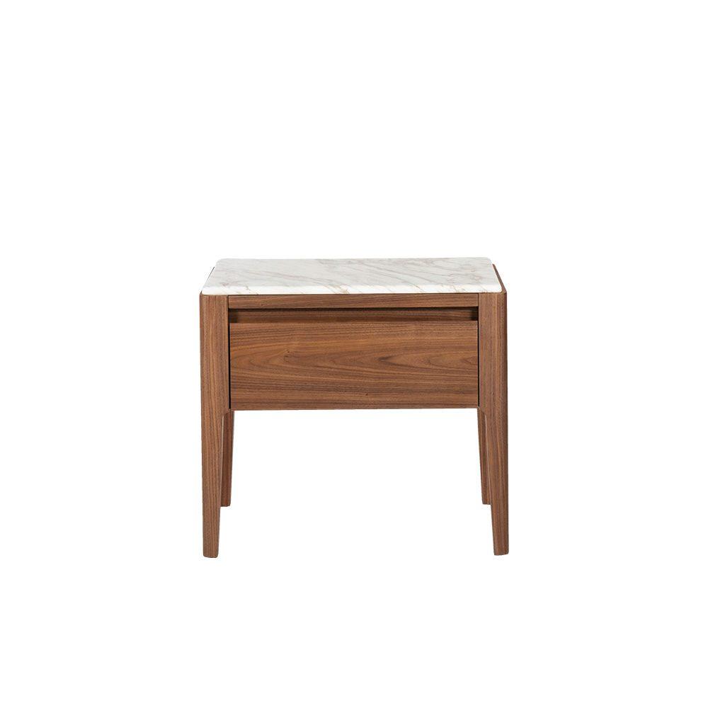 Rozel Premium Pairings White Marble Side Table Top Living Room