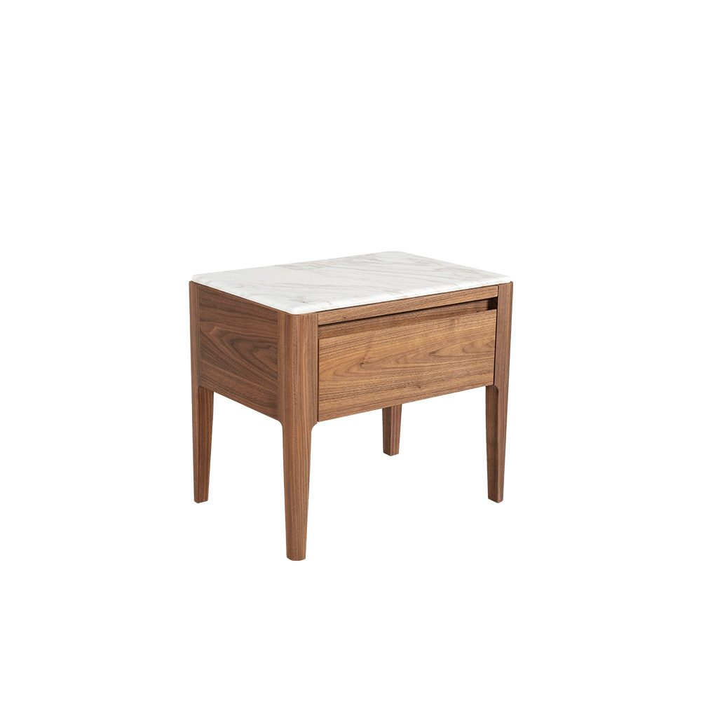 Rozel Premium Pairings White Marble Side Table Top Living Room