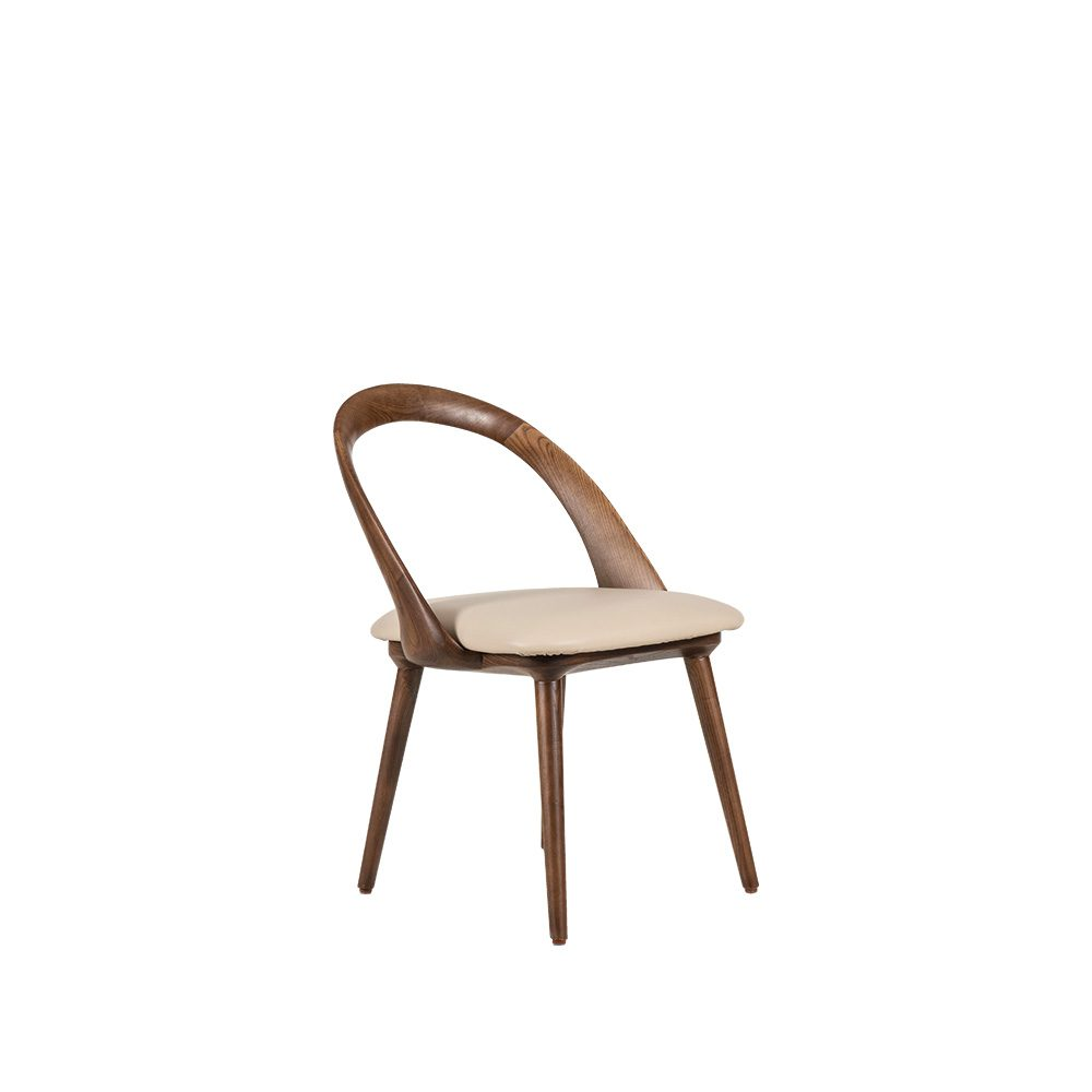 Rozel Khayu Grey Beige PVC Dining Chair