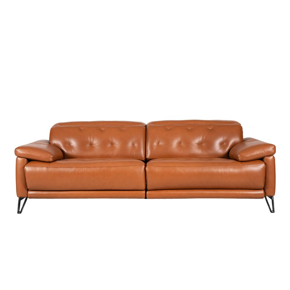 Rozel Power Recliner Brown Leather Sofa Living room