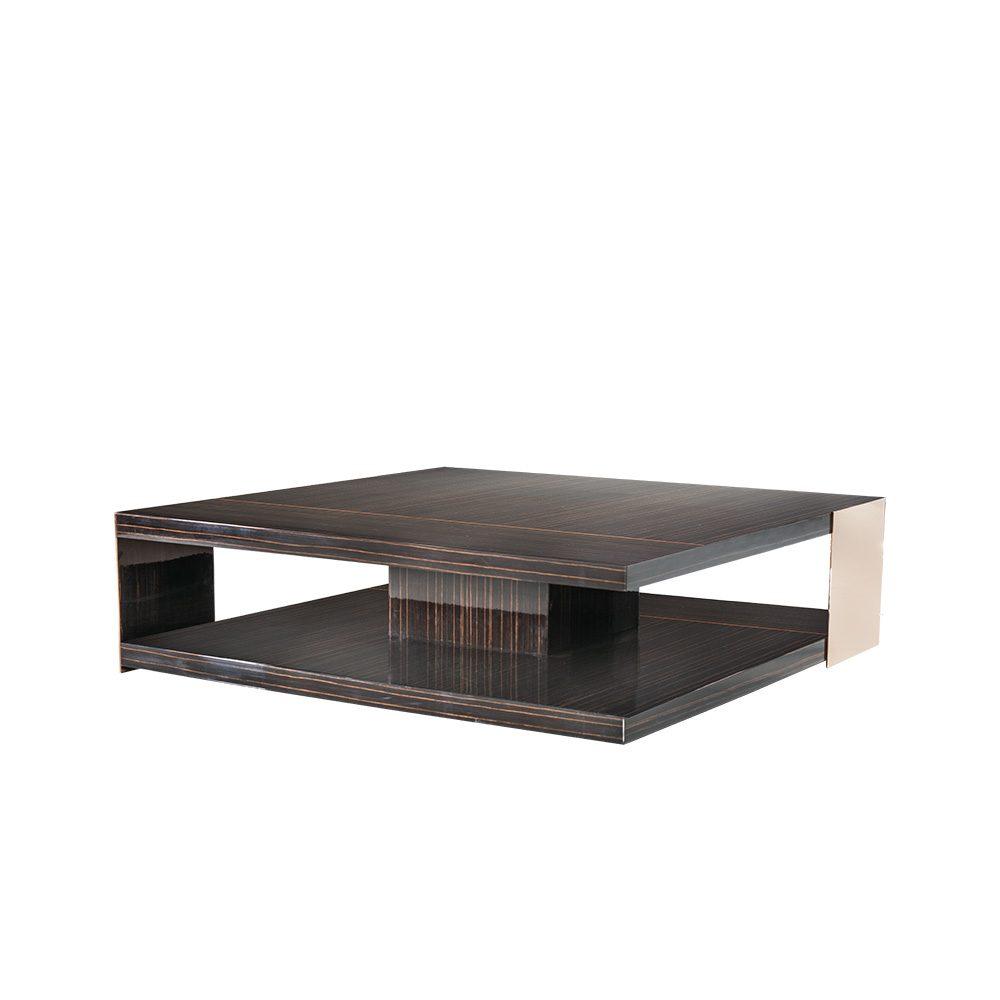 Rozel Premium Pairings Centre Lurex Ebony Brown Table Top Living Room