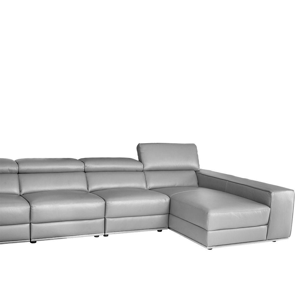 Rozel Signature Grey Leather Sofa Living room