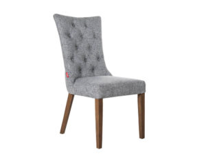 Rozel Khayu Dark Grey Sunflower Fabric Dining Chair