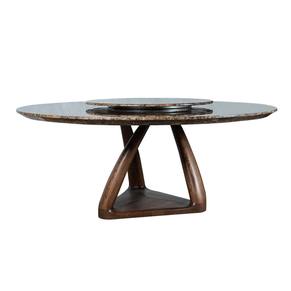 Rozel Khayu Glossy Emperador Marble Dining Table Top